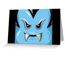 BLUE VAMPIRE - HALLOWEEN, HORROR Greeting Card