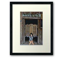 Katey's Saloon Framed Print