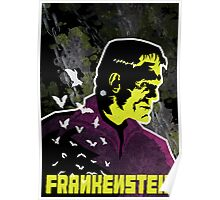 Frankenstein's Creation (Textured) Poster