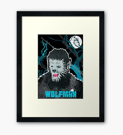 Wolfman (Textured) Framed Print