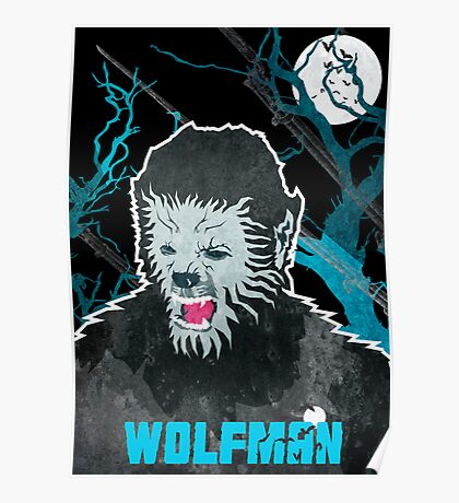 Wolfman (Textured) Poster