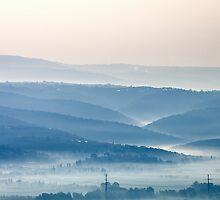 Misty Watercolor Morning by Noam Gordon