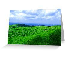 Standing on a Mountain Ridge Greeting Card