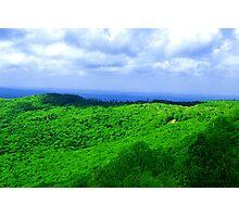Standing on a Mountain Ridge Photographic Print