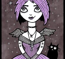 Little Goth Girl by Anita Inverarity