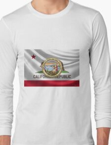 California Great Seal over State Flag Long Sleeve T-Shirt