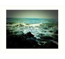 Breaking Seas Art Print