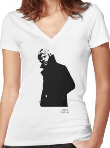 Iconic Stars Robert Redford Women's Fitted V-Neck T-Shirt