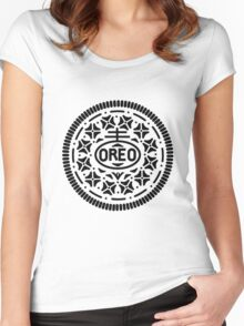 Oreo Logo Women's Fitted Scoop T-Shirt