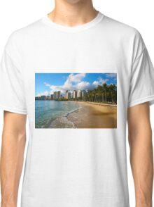 Hawaii - Oahu Island, Honolulu Waikiki Beach Panorama Classic T-Shirt