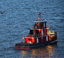 Tugboat Heading Home by mimsjodi