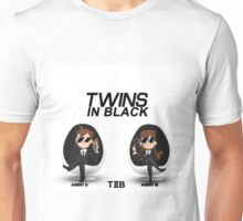 Twins in Black Unisex T-Shirt