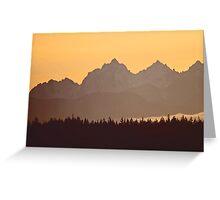 southern olympic mtn sunset, washington, usa Greeting Card