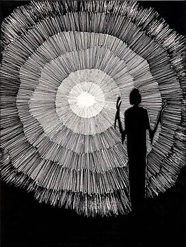 148 - JOURNEY INTO LIGHT - DAVE EDWARDS - 1988 - PEN & INK by BLYTHART