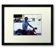 Up close with Tom Cruise Framed Print