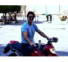 Up close with Tom Cruise Photographic Print