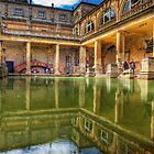 The Great Bath, in Bath, U.K. by NeilAlderney