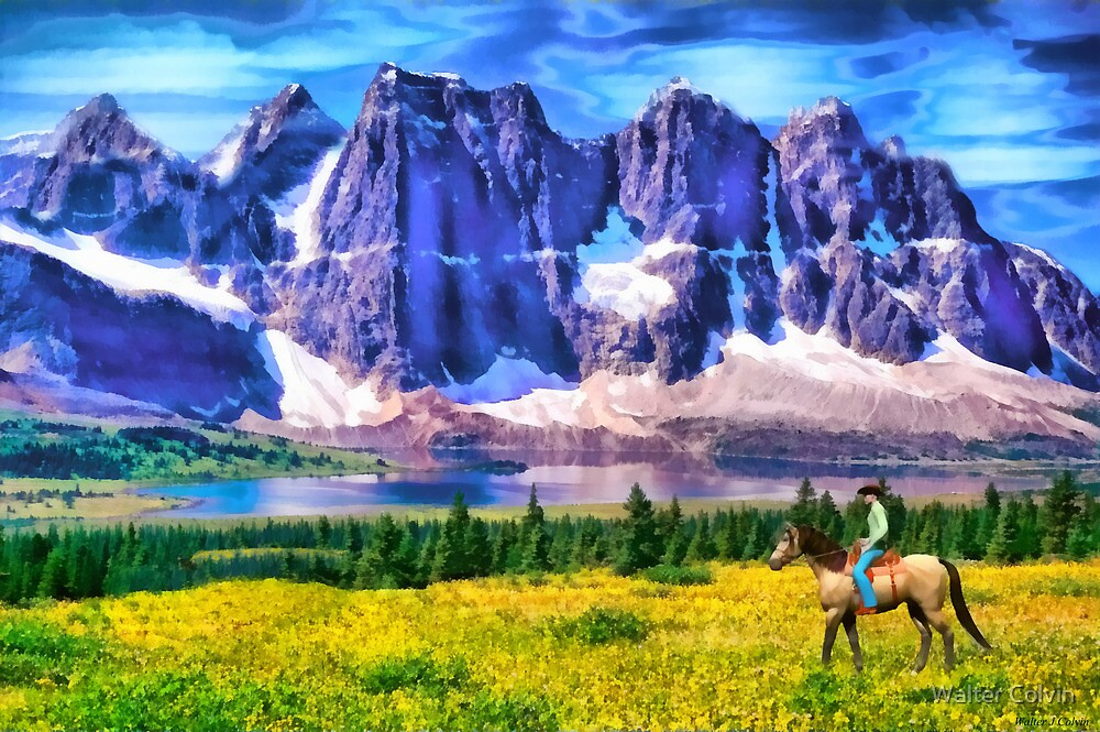 Mountain Cowboy by Walter Colvin