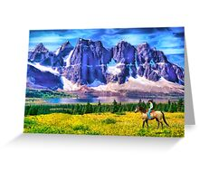 Mountain Cowboy Greeting Card