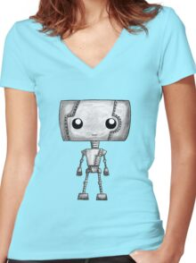 A Tiny Robot T-Shirt Women's Fitted V-Neck T-Shirt