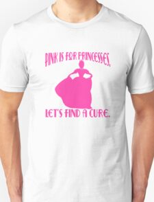Pink is for Princesses Breast Cancer Awareness T-Shirt