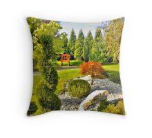 Resting in the garden Throw Pillow