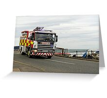 Fire Appliance On A Call, Saltburn Greeting Card