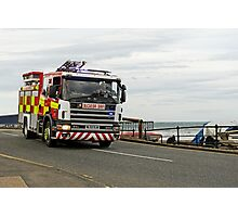 Fire Appliance On A Call, Saltburn Photographic Print