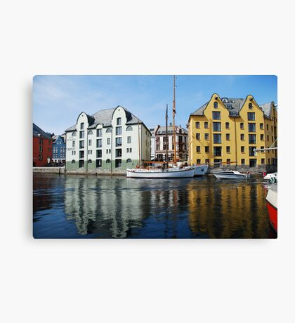 A sunny day in Aalesund Canvas Print