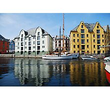 A sunny day in Aalesund Photographic Print