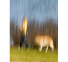 Walking the dog Photographic Print
