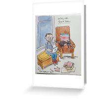 Writing with Bernard Socks Greeting Card