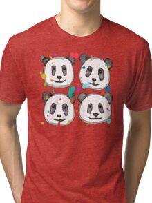 splatter pop panda cookies Tri-blend T-Shirt