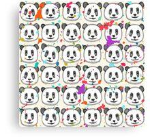 splatter pop panda cookies Canvas Print
