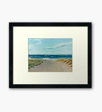 Saltwater - a study Framed Print