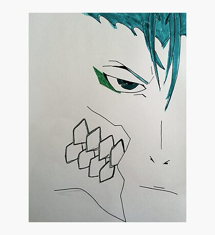 Minimalistic Grimmjow Jeagerjaques Photographic Print