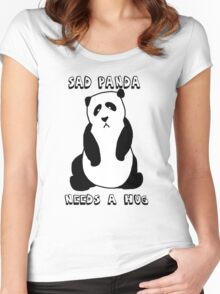 Sad Panda Needs A Hug Women's Fitted Scoop T-Shirt