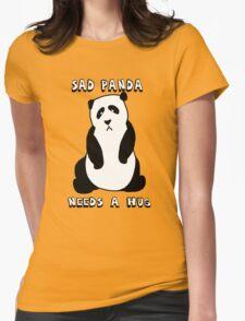 Sad Panda Needs A Hug Womens Fitted T-Shirt