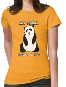 Sad Panda Needs A Hug Womens Fitted T-Shirt