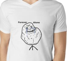 Forever Alone Mens V-Neck T-Shirt
