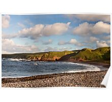 New Aberdour Beach Cliffs and Caves Poster
