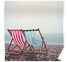 Deck Chairs - Brighton Poster