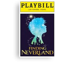 Finding Neverland Playbill Canvas Print