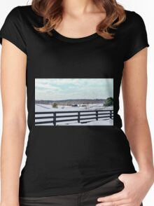 Winter Wonderland Women's Fitted Scoop T-Shirt