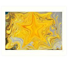 Bright Shiny Gold Star Art Print