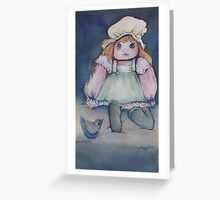 Her Doll Greeting Card
