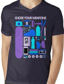 Chose Your Weapons - New Colours Mens V-Neck T-Shirt