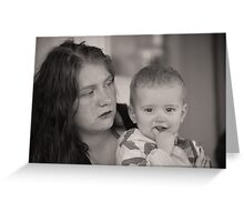 Mother and baby. Greeting Card