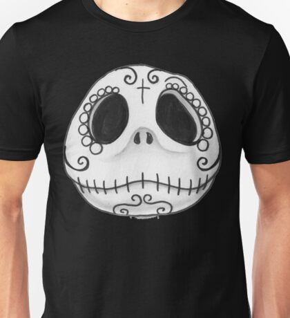 Sugar Skull Jack Skellington face Unisex T-Shirt