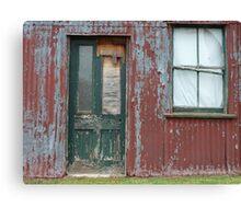 Gooloogong Green Door & Window Canvas Print